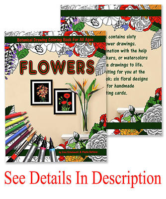 Mixed Media - Coloring Book With Botanical Flowers by Irina Sztukowski