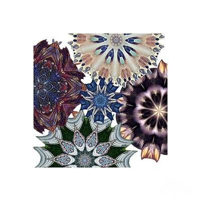 Gold Earrings Digital Art - Coloring Snowflakes by Dee Winslow