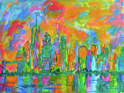 Painting - Coloring The Big Apple Stage One by Kendall Kessler