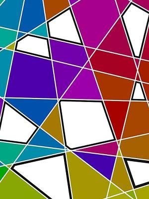 Geometric Art Digital Art - Colorist Diagonal by Alberto RuiZ
