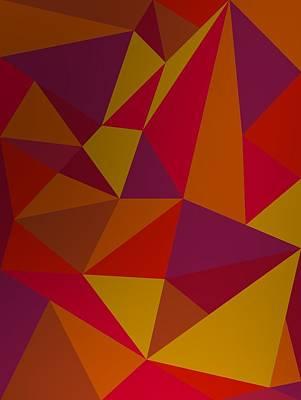 Triangle Digital Art - Colorist Triangles. by Alberto RuiZ