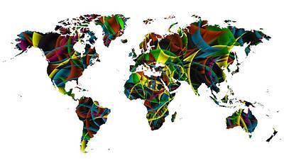 Home Digital Art - Colorist Worldmap by Alberto RuiZ