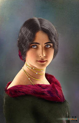 Cleo Digital Art - Colorized Cleo De Merode  1903 by Alex Lim