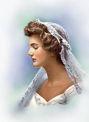 Portratis Photograph - Colorized Jacqueline Bouvier Kennedy 1953 by Alex Lim