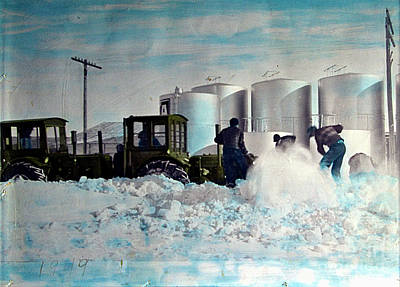 Photograph - Colorized Tractors By Grandpa - 1949 by Al Bourassa