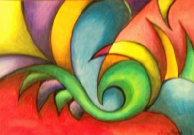 Colors And Curves II Art Print by Karina Repp