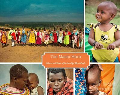 Photograph - Colors And Smiles Of The Masai by Karen Lewis