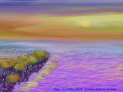 Digital Art - Colors Before Sunset by Dr Loifer Vladimir