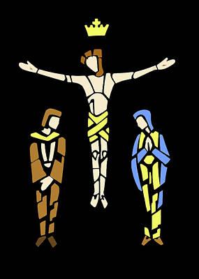 Photograph - Colors Crucifixion by Munir Alawi