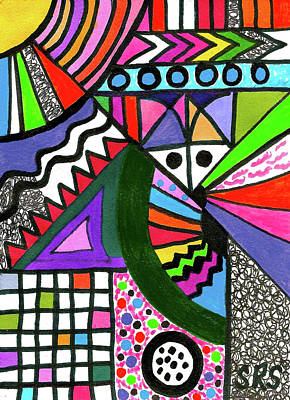 Drawing - Colors Gone Wild by Susan Schanerman