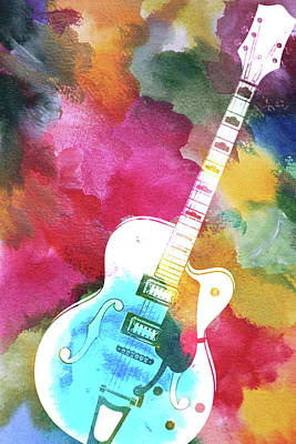 Photograph - Colors Guitar by Steve McKinzie