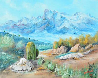 Colors In The High Desert Art Print by Lloyd Dobson