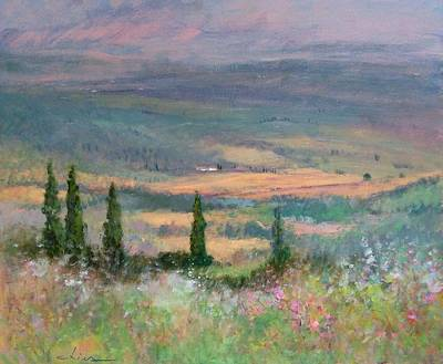 Tuscan Hills Painting - Colors In Tuscany by Biagio Chiesi