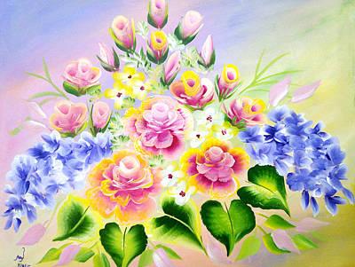 Petals Painting - Colors by Jennilyn Villamer Vibar