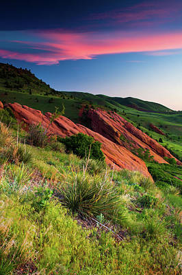 Print featuring the photograph Colors Of A Colorado Spring Sunrise by John De Bord