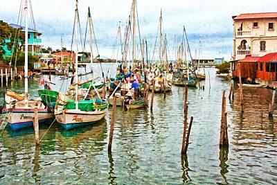 Colors Of Belize - Digital Paint Art Print