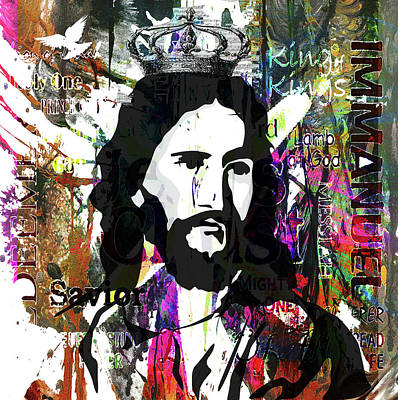 Mixed Media - Colors Of Christ by Angela Holmes