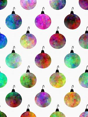 Colors Of Christmas Art Print