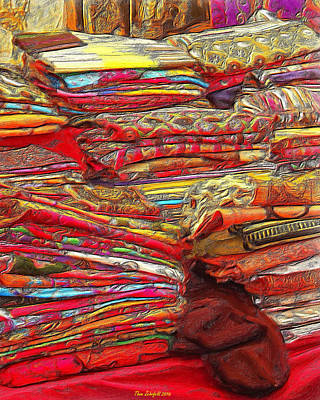 Photograph - Colors Of Cloth by Thom Zehrfeld