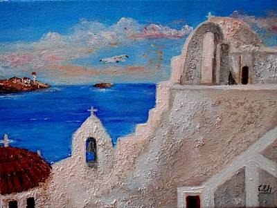 Painting - Colors Of Greece by Constantinos Charalampopoulos