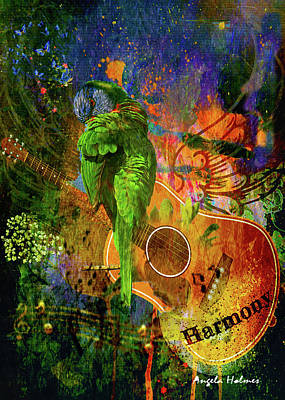 Mixed Media - Colors Of Harmony by Angela Holmes