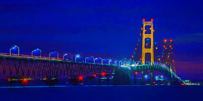 Painting - Colors Of Mackinac At Dusk by Dan Sproul