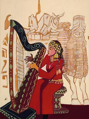 Iraqi Painting - Colors Of Mesopotamian Harp  by Paul Batou