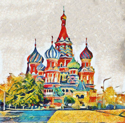 Painting - Colors Of Moscow Kremlin by Dan Sproul