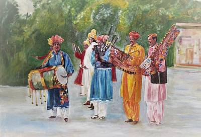 Painting - Colors Of Music by Khalid Saeed