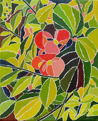 Tendrils Painting - Colors Of Nature by Seema Kumar