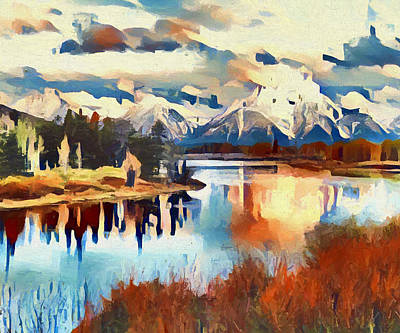 Painting - Colors Of Oxbow Bend by Dan Sproul