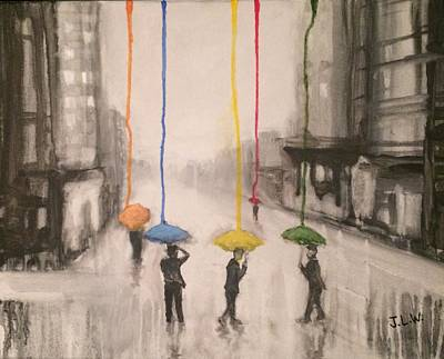 Painting - Colors Of Rain by Justin Lee Williams