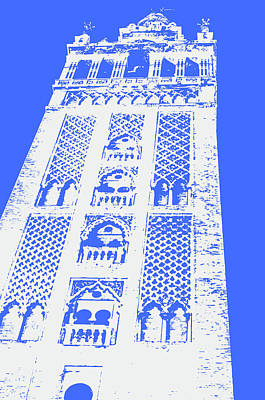 Painting - Colors Of Seville - Giralda In Blue by Andrea Mazzocchetti