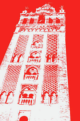 Painting - Colors Of Seville - Giralda In Red by Andrea Mazzocchetti
