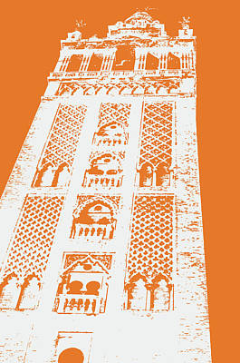 Painting - Colors Of Seville - Giralda In Yellow by Andrea Mazzocchetti