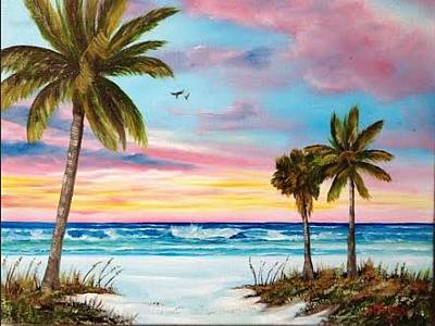 Colors Of Siesta Key Art Print