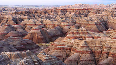 Colors Of The Badlands Art Print