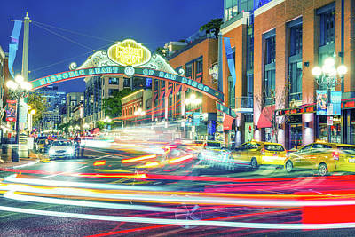 Photograph - Colors Of The Gaslamp by Joseph S Giacalone
