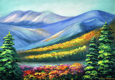 Painting - Colors Of The Mountains by Gina De Gorna