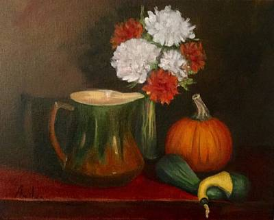 Still Life Painting - Colors Of Autumn by Anne Barberi