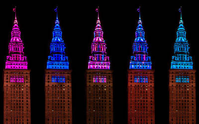 Photograph - Colors Of The Terminal Tower by Stewart Helberg