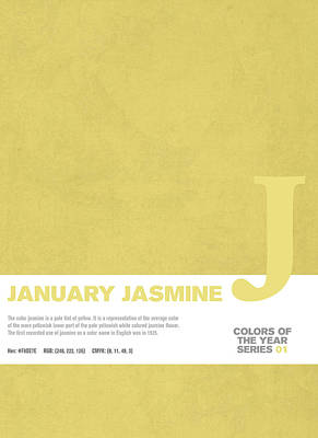 Colors Of The Year Series 01 Graphic Design January Jasmine  Art Print