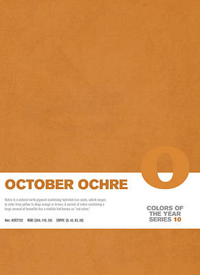 Color Mixed Media - Colors Of The Year Series 10 Graphic Design October Ochre by Design Turnpike