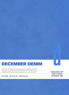 Color Mixed Media - Colors Of The Year Series 12 Graphic Design December Denim by Design Turnpike