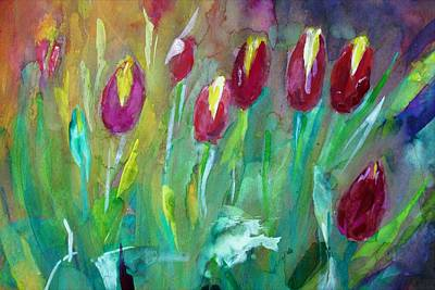 Painting - Colors Of Tulips by Khalid Saeed