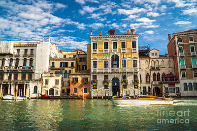 Photograph - Colors Of Venice - Italy by Jeffrey Worthington