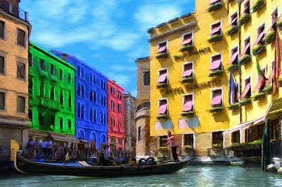 Colors Of Venice Art Print by Jeff Kolker