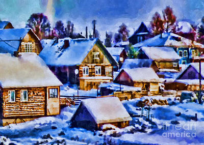 Colors Of Winter Evening Art Print by Olga Hamilton