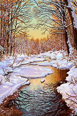 Painting - Colors Of Winter by Hans Neuhart