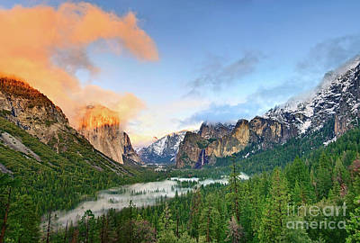 Mountain Valley Photograph - Colors Of Yosemite by Jamie Pham